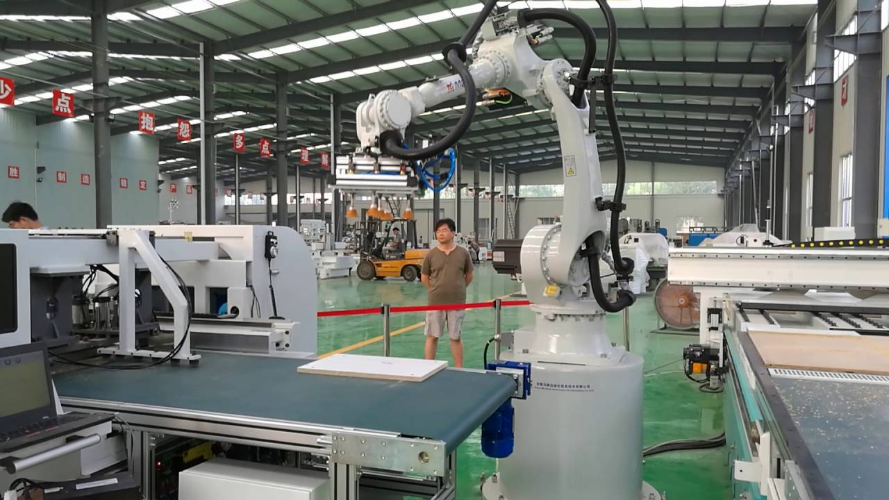 Furniture production line with robot arm youtube for I furniture assembly