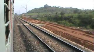 Tilaiya-Koderma-Ranchi line in construction on Chotanagpur hills, adjacent to the Grand Chord