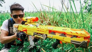 LTT Nerf War : Police Patrol SEAL X Warriors Nerf Guns Fight Dr Lee Group Transport Vehicle Thief