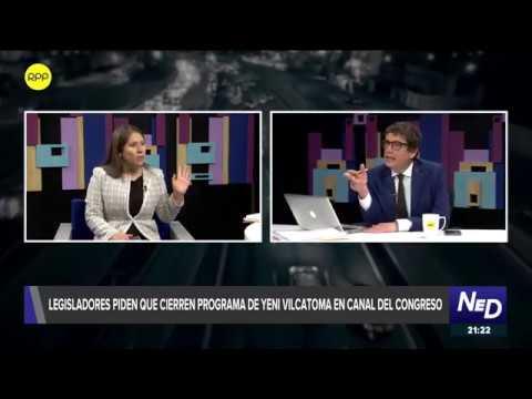 Legisladores piden que cierren programa de Yeni Vilcatoma en canal del Congreso