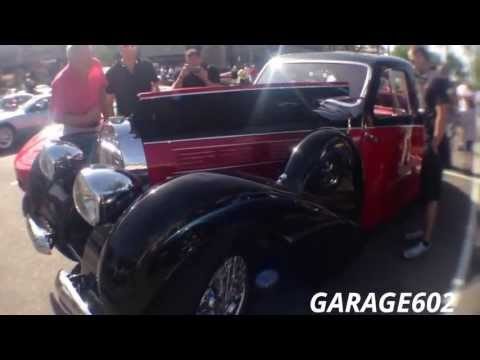 1939 Bugatti Type 57C Galibier Four-Door Saloon, at Cars and Coffee Scottsdale