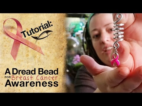 How to Make a Dread Bead for Breast Cancer Awareness Month | Pink Ribbon Charm