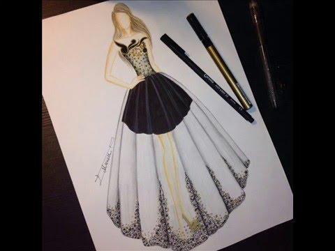 a7fb26e6171d5 تصميم أزياء للفنانة ميساء عاشور - YouTube