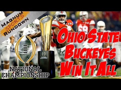 Ohio State Buckeyes Win 2015 National Championship || MSR