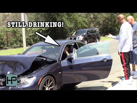 LA Radio DJ Hit By DRUNK DRIVER – Keeps Drinking, Stumbles Out with His Pants Down
