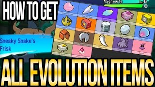 Where to Get All EVOLUTION ITEMS in Pokemon Sun and Moon | Austin John Plays