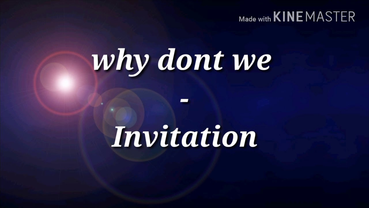 Why dont we invitation lyrics youtube why dont we invitation lyrics stopboris Images