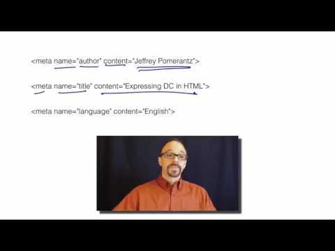 Metadata MOOC 2-6: Dublin Core in HTML