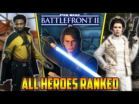 UPDATED - ALL HEROES RANKED From Worst To Best! Star Wars Battlefront 2 thumbnail