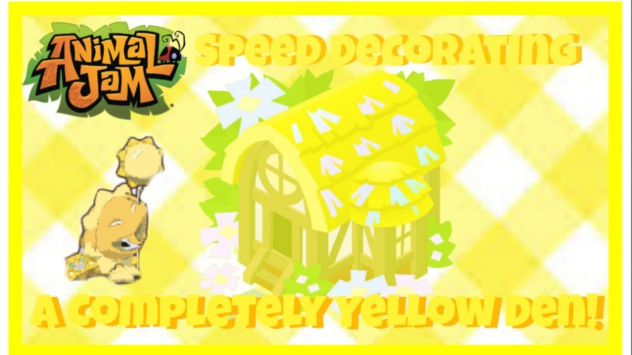 Download Animal Jam: Speed Decorating A Completely Yellow Den! Only Yellow Items! {Uniquely Unicolor Series}