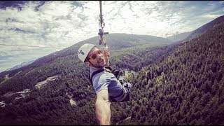 I RODE THE LONGEST ZIPLINE IN NORTH AMERICA - 2.2 KM Long Sasquatch, Whistler, B.C. [Travel Vlog]