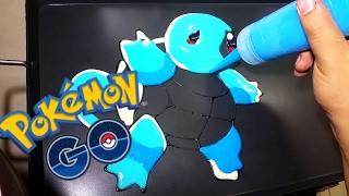 Repeat youtube video Pancake Art - Squirtle (Pokemon) - Remake