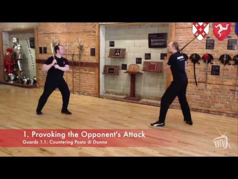 Advanced Longsword Sample: provoking the opponent's attack