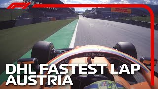 Lando Norris Claims First Ever Fastest Lap | 2020 Austrian Grand Prix | DHL