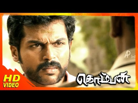 Komban Tamil Movie | Scenes | Rajkiran Fights With Super Subbarayan | Karthi | Lakshmi Menon