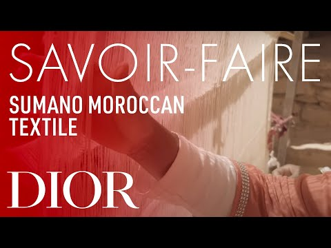 Moroccan textile from Sumano Savoir-Faire – Dior Cruise 2020 collection