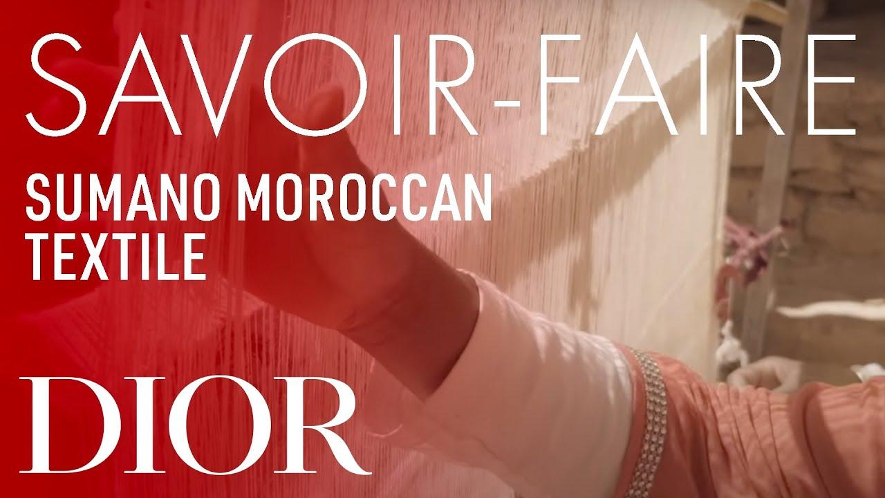 Moroccan textile from Sumano Savoir-Faire - Dior Cruise 2020 collection