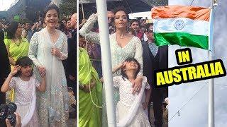 Aishwaryra Rai's Daughter Aaradhya Salutes Indian National Flag In Australia & Sings Jana Gana Mana