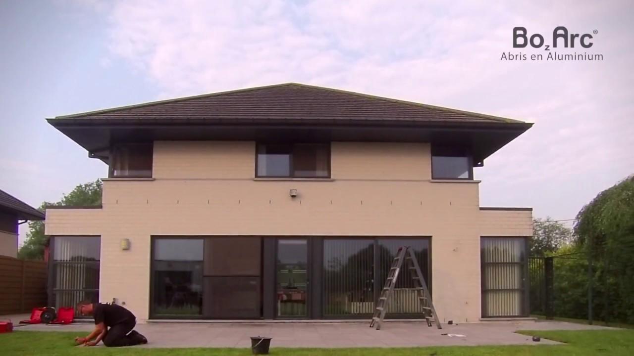 construction d un auvent de terrasse bozarc youtube. Black Bedroom Furniture Sets. Home Design Ideas