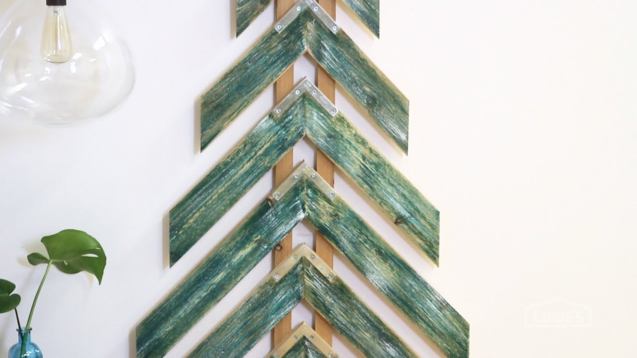 Holiday lodge rustic woodland decorations youtube - How To Make A Chevron Tree