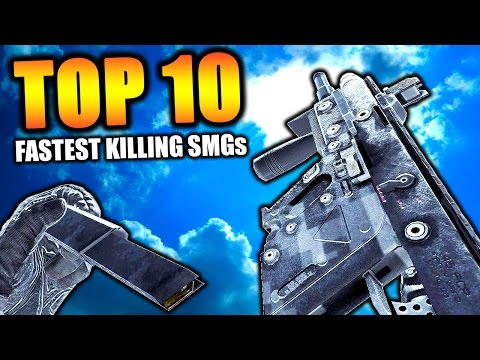 "Top 10 ""FASTEST KILLING SMGs"" in COD HISTORY (Top Ten) Call of Duty 