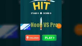Я вернулся!!  Knife Hit/Noob VS Pro