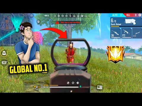 Global No.1 Pusher Rank Match End With Treatment Gun - Garena Free Fire