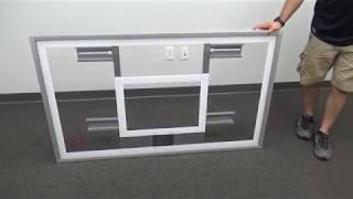 First Team FT220H Gymnasium Acrylic Basketball Backboard