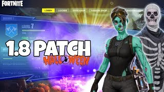 SUPER FORTNITE UPDATE !! MORE CONTENT IN FORTNITE BATTLE ROYALE FREE FOR HALLOWEEN