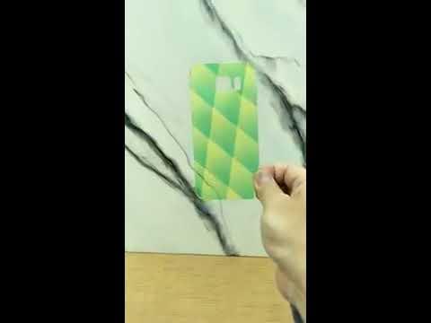 噴墨墨水在透明玻璃上的效果