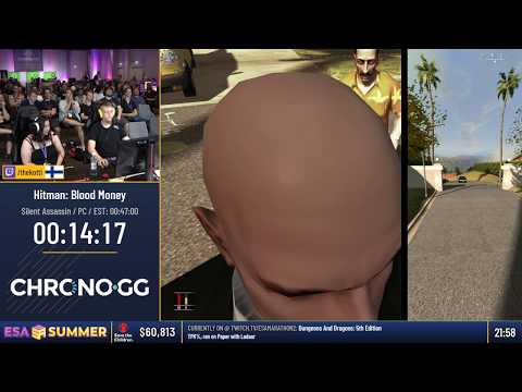 Hitman: Blood Money speedrun - ESA Summer 2018