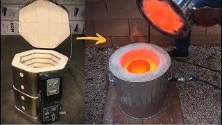 Making a CAST IRON melting furnace from an old Kiln│Metal Foundry Furnace│Part 1