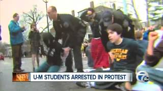 University of Michigan Liberals Arrested during Pro-ILLEGALS Protest - www.AmericansNotWanted.com