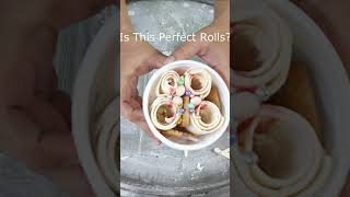 Making Rolled Ice Cream With Horlicks Cookies #Shorts