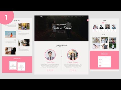 #1 Wedding & Wedding Planner Website Using Html Css Jquery