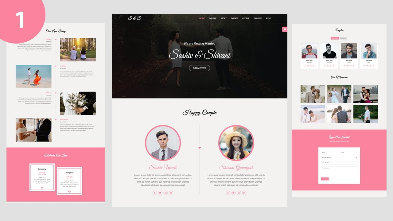 Wedding & Wedding Planner Website using Html Css Jquery
