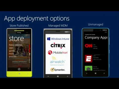 TechEd Europe 2013 Manage Windows Phone Enterprise Apps