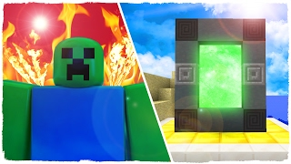 👉 HOW TO MAKE A PORTAL TO THE DIMENSION OF ROBLOX - MINECRAFT