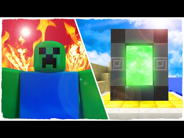 Como Hacer Un Portal A La Dimensión De Roblox Minecraft How To Make A Portal To Roblox Dimension Minecraft Youtube