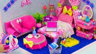 DIY Miniature Dollhouse Room ~ Barbie Room Decor, Backpack