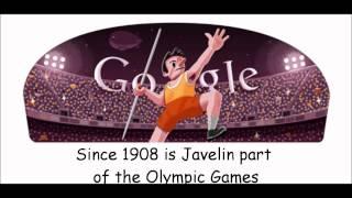 London 2012 Javelin Google Doodle