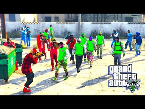 GTA 5 ONLINE - KSG VS CRIPS AND BLOODS PART 3 (MUST WATCH)