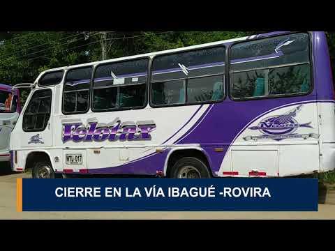 Cierre en la  vía Ibagué - Rovira