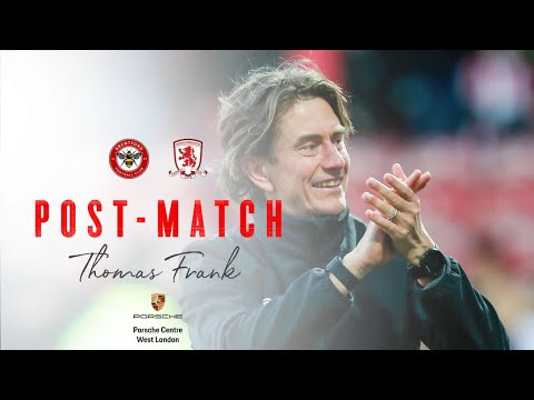 Thomas Frank on Middlesbrough victory