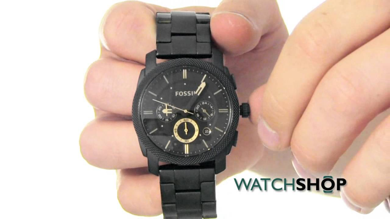 e579aad57 Fossil Men's Machine Chronograph Watch (FS4682) - YouTube