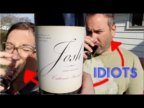 TWO IDIOTS TRY WINE || JOSH CELLARS REVIEW (NOT REALLY)