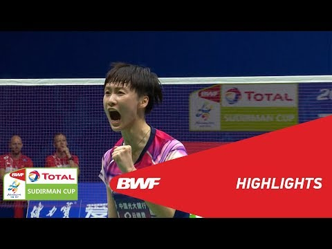 TOTAL BWF SUDIRMAN CUP 2019 | WS | CHINA VS DENMARK | BWF 2019