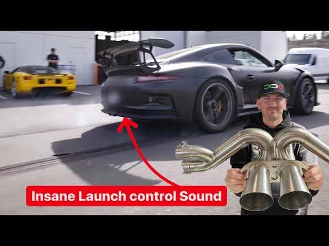 INSANE $8000 TITANIUM RACE EXHAUST LAUNCH CONTROL SOUND! *Porsche GT3RS* - DailyDrivenExotics
