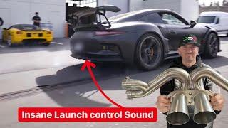 Download INSANE $8000 TITANIUM RACE EXHAUST LAUNCH CONTROL SOUND! *Porsche GT3RS*