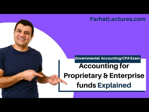 Accounting for proprietary funds  enterprise fund CPA exam governmental accounting